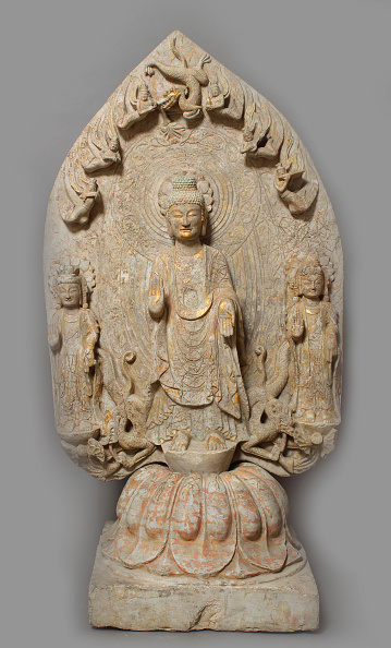 Bodhisattva「Votive Stele With Buddha And Two Bodhisattvas」:写真・画像(0)[壁紙.com]