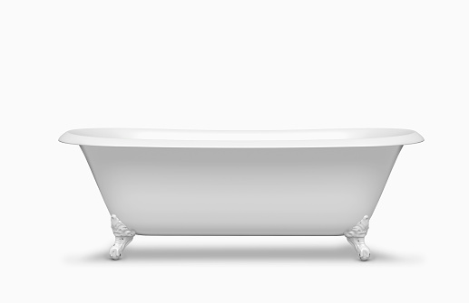 Clipping Path「Empty bathtub in studio」:スマホ壁紙(2)