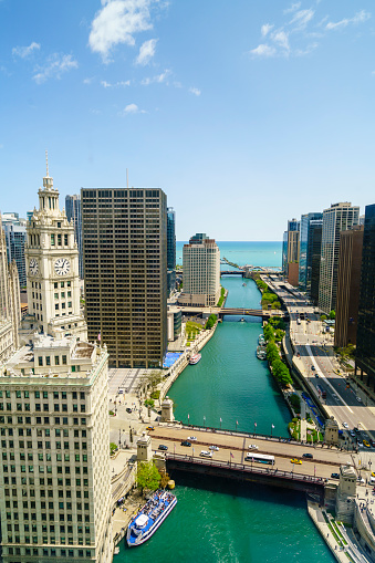 Great Lakes「Chicago River, Chicago」:スマホ壁紙(9)