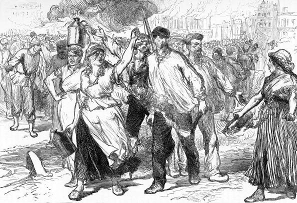 City Life「Paris Commune: Rioters and Pétroleuses burning buildings」:写真・画像(12)[壁紙.com]