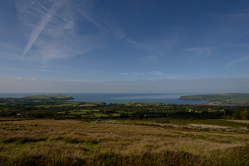 自然美「View of Dinas Head from the Presell Hills.」:スマホ壁紙(3)