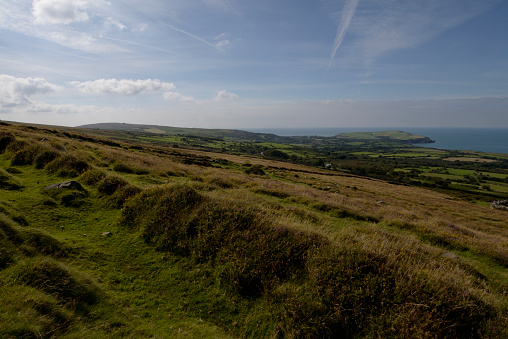 自然美「View of Dinas Head from the Presell Hills.」:スマホ壁紙(11)