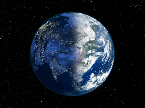 Planet Earth「Asia , day and night, satellite image of the Earth」:スマホ壁紙(10)