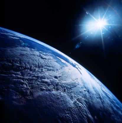 Solar System「Shining star over earth」:スマホ壁紙(10)