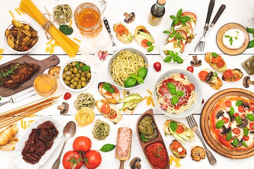Appetizer「Top view table full of food」:スマホ壁紙(2)