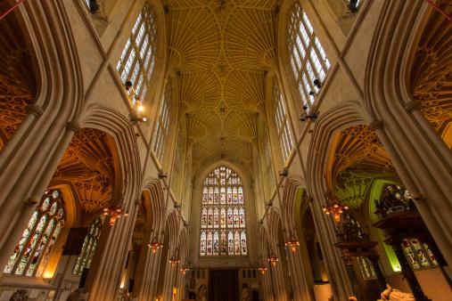 Abbey - Monastery「Bath Abbey Interior」:スマホ壁紙(9)