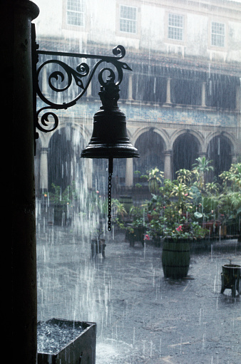 Carl Court「Rain Pouring on Courtyard in Salvador, Brazil」:スマホ壁紙(2)