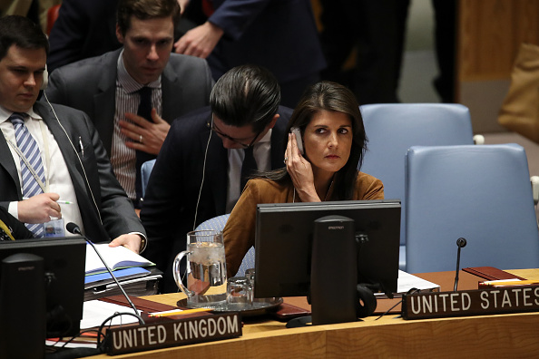 Drew Angerer「UN Security Council Holds Emergency Meeting After Syrian Chemical Weapons Attack」:写真・画像(15)[壁紙.com]