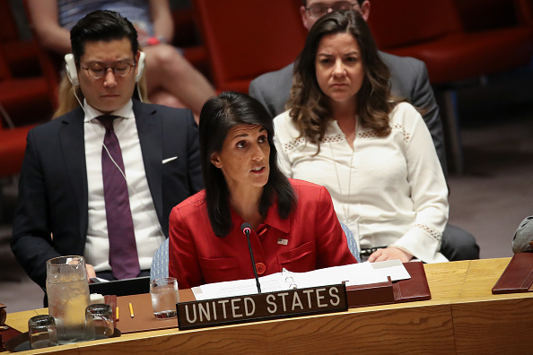 Drew Angerer「UN Holds Emergency Security Council Meeting After North Korea Missile Launch」:写真・画像(3)[壁紙.com]