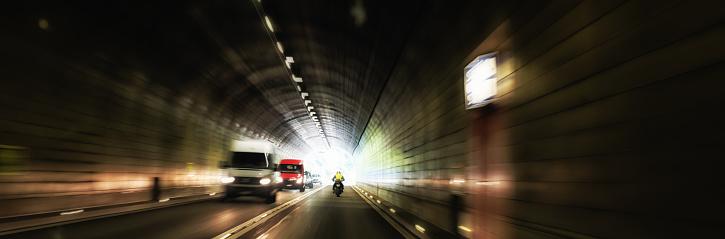 Motorcycle「dangerous oncoming traffic inside a road tunnel」:スマホ壁紙(4)