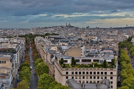 Boulevard「Paris view at dusk from Arc de Triomphe」:スマホ壁紙(17)