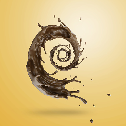 Swirl Pattern「Chocolate Splash」:スマホ壁紙(15)