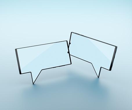 Touch Screen「Two smart phones shaped like speech bubbles」:スマホ壁紙(10)