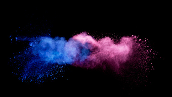 Smoke - Physical Structure「blue and pink smoke colliding」:スマホ壁紙(12)