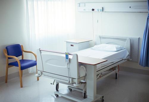 Hospital Ward「Empty bed in hospital room」:スマホ壁紙(18)
