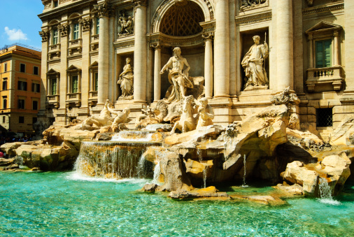ロマンス「Trevi fountain, Rome, Italy」:スマホ壁紙(18)