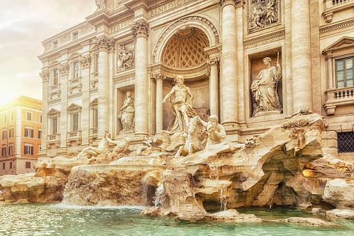 Piazza di Trevi「Trevi Fountain, Rome, Italy」:スマホ壁紙(9)