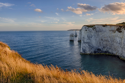 Limestone「UK, Dorset, Jurassic Coast, Isle of Purbeck, Old Harry Rocks」:スマホ壁紙(18)