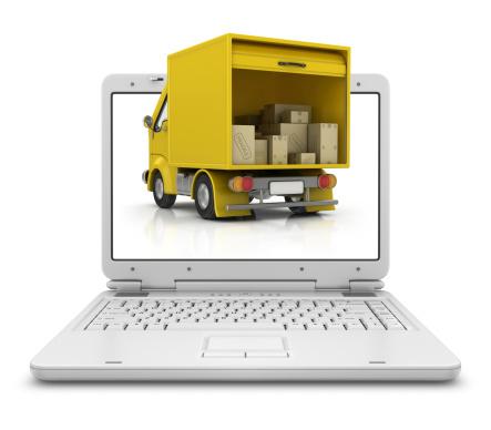 Web Page「delivery van in laptop」:スマホ壁紙(18)