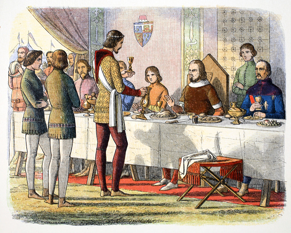 Poitiers「Prince Edward Serves John Of Artois At Table After Having Defeated Him At Poitiers 1356 (1864)」:写真・画像(0)[壁紙.com]