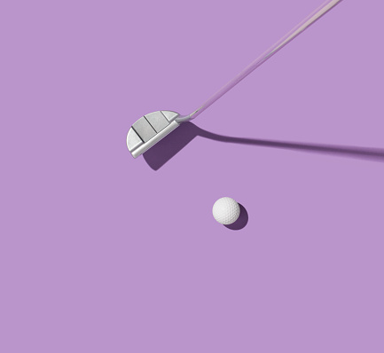 Two Objects「Golf club and golf ball」:スマホ壁紙(11)