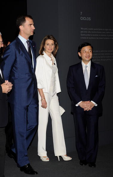 Japanese Royalty「Spanish Royals & Japan Crown Prince Naruhito At The Museum」:写真・画像(10)[壁紙.com]