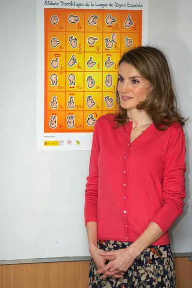 Sweater「Princess Letizia of Spain Attends CNSE Foundation Awards 2011」:写真・画像(12)[壁紙.com]
