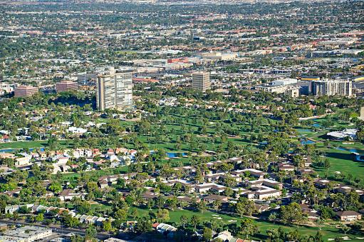 ゴルフ「High angle view of Las Vegas Golf Course」:スマホ壁紙(4)