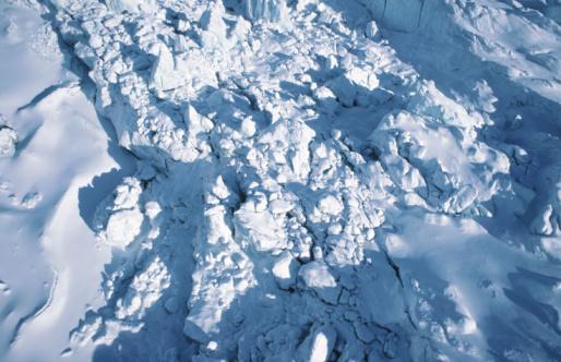 Kaskawulsh Glacier「High angle view of snowcovered glacier」:スマホ壁紙(1)