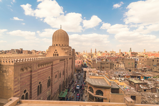 Cityscape「High angle view of Cairo during daytime, Egypt」:スマホ壁紙(19)