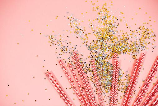 大晦日「High angle view of colorful straws. Debica, Poland」:スマホ壁紙(9)