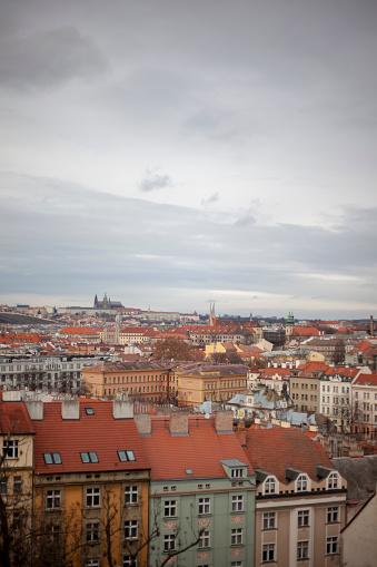 フラッチャニ「High Angle View of Prague, Czech Republic」:スマホ壁紙(8)