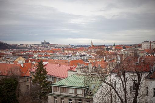 フラッチャニ「High Angle view of Prague, Czech Republic」:スマホ壁紙(7)