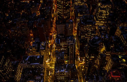 Avenue「High angle view of Midtown Manhattan via Empire State Building」:スマホ壁紙(10)