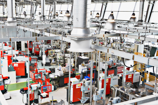 Manufacturing Equipment「High angle view of factory floor」:スマホ壁紙(16)