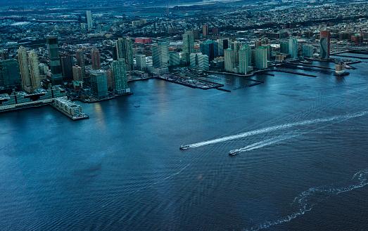 Helicopter「ハイアングルのヘリコプターからニュージャージー都市景観」:スマホ壁紙(17)