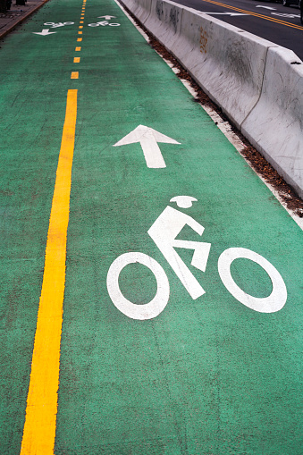 Bicycle Lane「High Angle View Of Bicycle Sign On Road」:スマホ壁紙(14)
