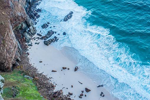 竹「高角度のビュー海と崖」:スマホ壁紙(0)