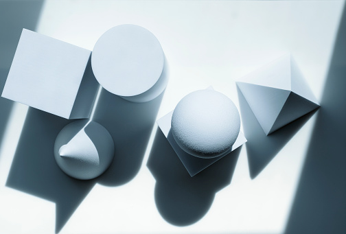 Cone Shape「High angle view of geometric shapes」:スマホ壁紙(4)