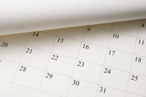 Calendar「High angle view of opened Calendar」:スマホ壁紙(3)