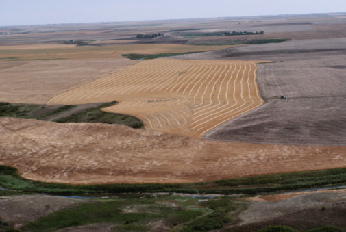 Moose Jaw「High angle view of farmland」:スマホ壁紙(19)