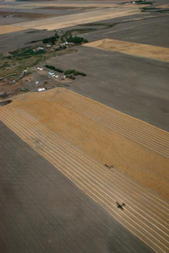 Moose Jaw「High angle view of farmland」:スマホ壁紙(9)