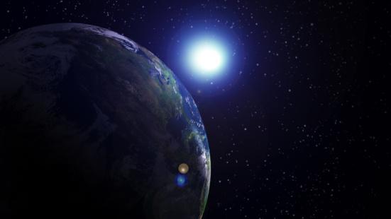 Solar System「Star shining on Earth」:スマホ壁紙(2)