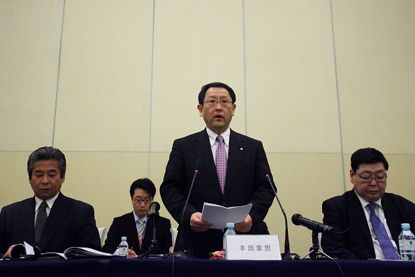 Transparent「Toyota President And CEO Akio Toyoda Attends A News Conference In Beijing」:写真・画像(6)[壁紙.com]