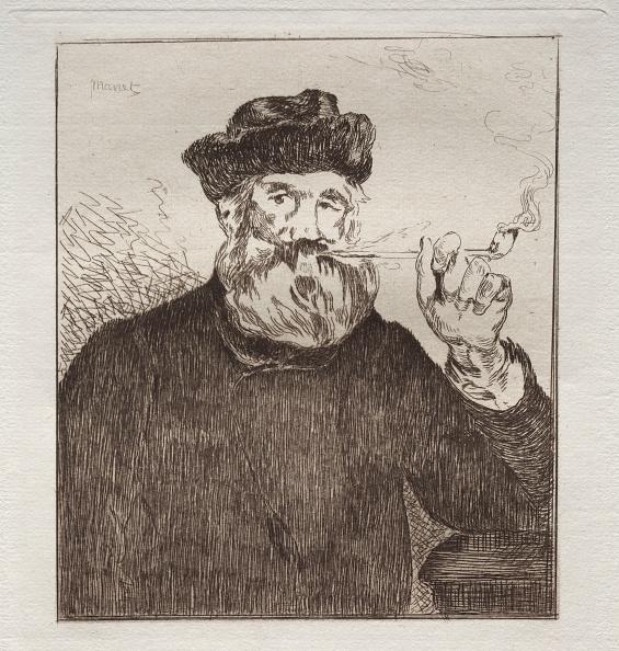 Etching「Le Fumeur. Creator: Edouard Manet (French」:写真・画像(3)[壁紙.com]