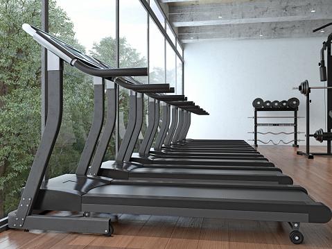 Sports Training「Modern gym interior with equipment」:スマホ壁紙(16)