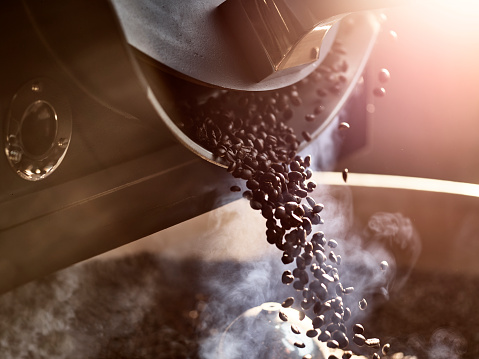 Back Lit「Coffee beans after roasting」:スマホ壁紙(2)
