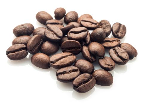 Coffee - Drink「Coffee beans on white」:スマホ壁紙(11)