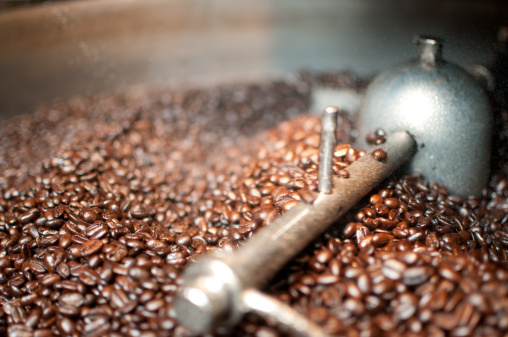 Coffee Roaster「Coffee Beans Being Cooled After Roasting」:スマホ壁紙(9)