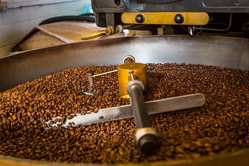 Coffee Roaster「Coffee beans in roaster」:スマホ壁紙(12)